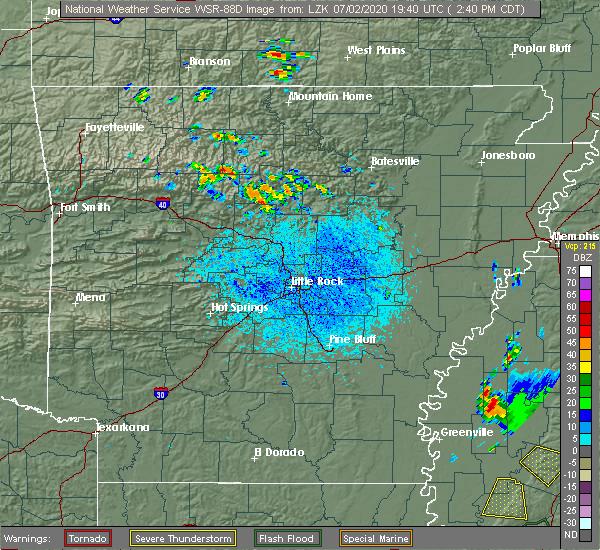 Radar Image for Severe Thunderstorms near Center Ridge, AR at 7/2/2020 2:47 PM CDT