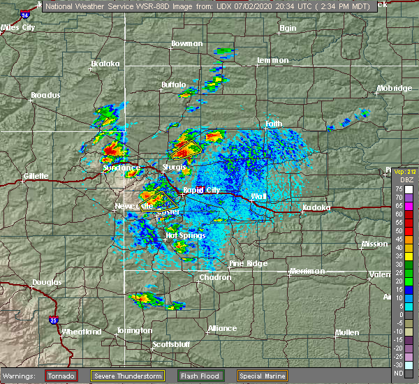 Radar Image for Severe Thunderstorms near Belle Fourche, SD at 7/2/2020 2:38 PM MDT