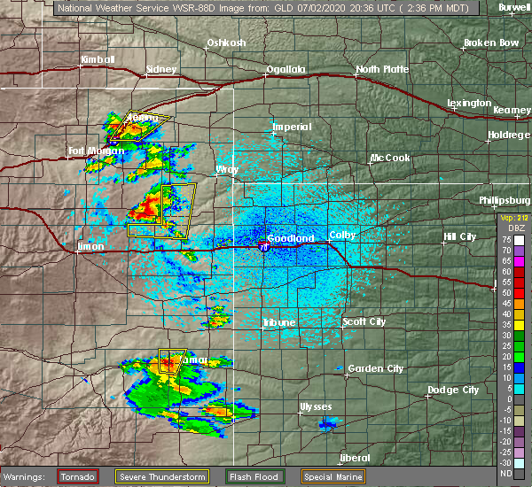 Radar Image for Severe Thunderstorms near Joes, CO at 7/2/2020 2:39 PM MDT