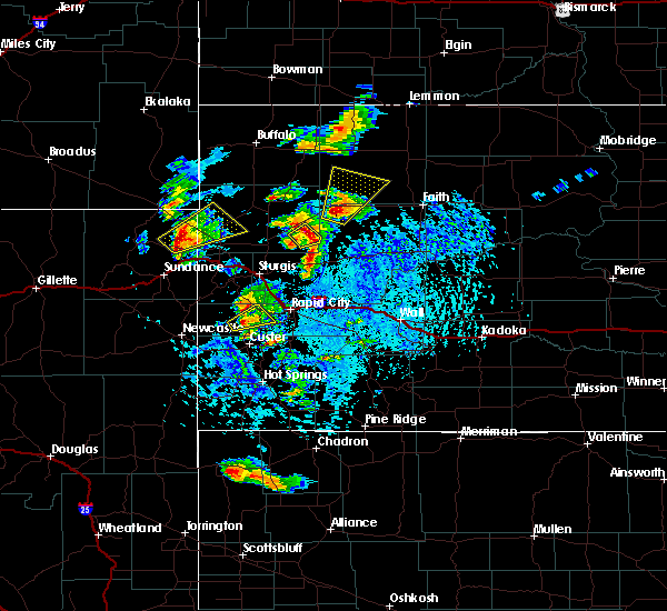 Radar Image for Severe Thunderstorms near Belle Fourche, SD at 7/2/2020 2:54 PM MDT
