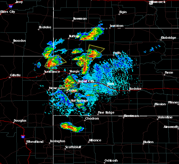 Radar Image for Severe Thunderstorms near Colonial Pine Hills, SD at 7/2/2020 3:00 PM MDT
