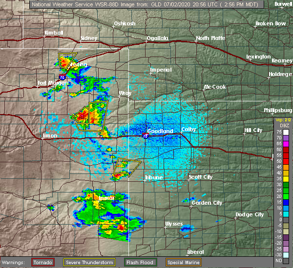 Radar Image for Severe Thunderstorms near Weskan, KS at 7/2/2020 3:04 PM MDT