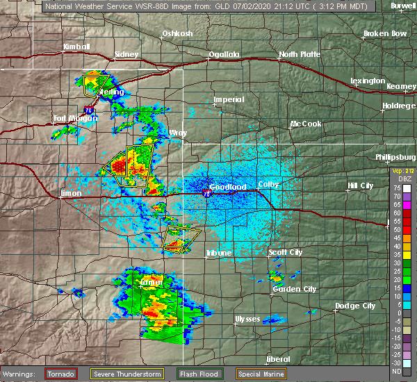 Radar Image for Severe Thunderstorms near Joes, CO at 7/2/2020 3:14 PM MDT