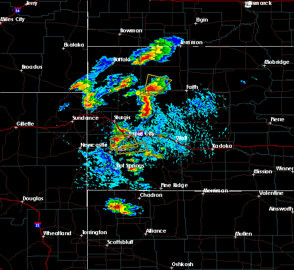 Radar Image for Severe Thunderstorms near Rapid City, SD at 7/2/2020 3:14 PM MDT
