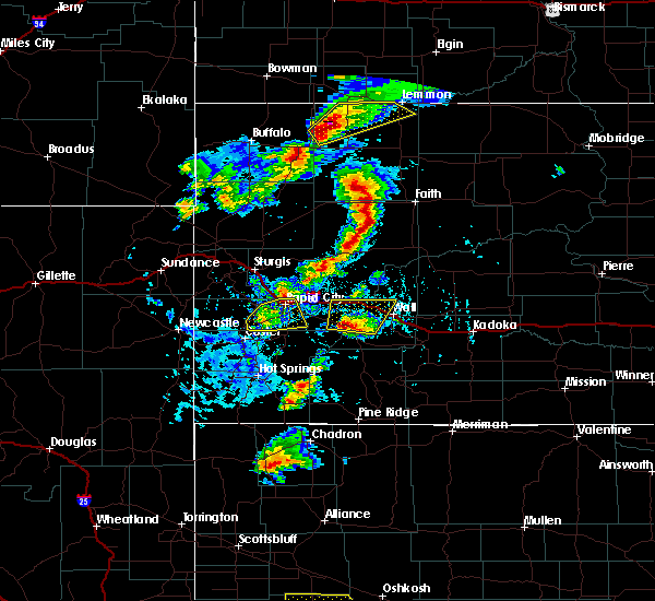 Radar Image for Severe Thunderstorms near Colonial Pine Hills, SD at 7/2/2020 3:55 PM MDT