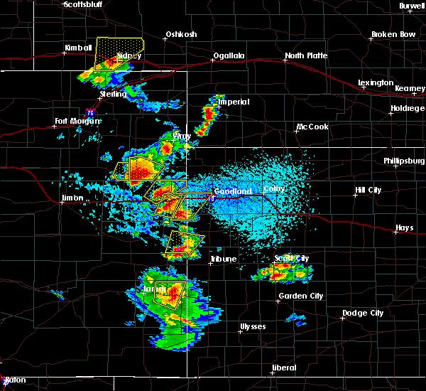 Radar Image for Severe Thunderstorms near Kanorado, KS at 7/2/2020 3:56 PM MDT