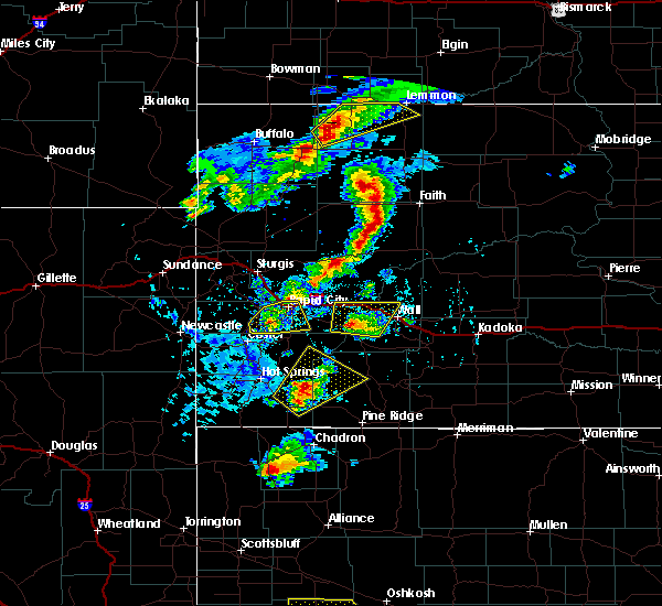 Radar Image for Severe Thunderstorms near Oelrichs, SD at 7/2/2020 4:01 PM MDT