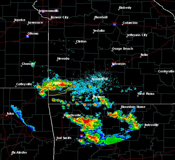 Radar Image for Severe Thunderstorms near Joplin, MO at 7/2/2020 5:16 PM CDT