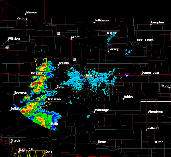 Radar Image for Severe Thunderstorms near Richardton, ND at 7/2/2020 4:16 PM MDT