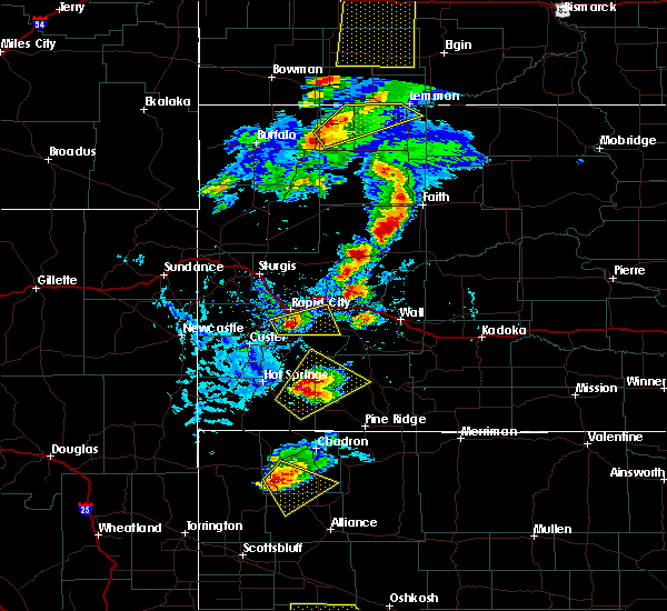 Radar Image for Severe Thunderstorms near Colonial Pine Hills, SD at 7/2/2020 4:19 PM MDT
