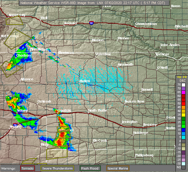Radar Image for Severe Thunderstorms near Sarben, NE at 7/2/2020 4:21 PM MDT