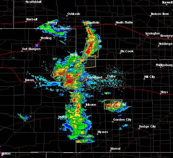 Radar Image for Severe Thunderstorms near Joes, CO at 7/2/2020 4:23 PM MDT