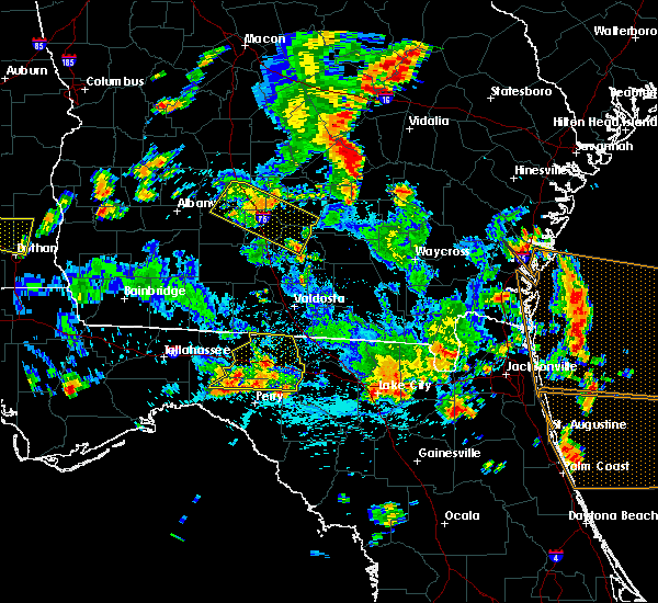 Radar Image for Severe Thunderstorms near Tifton, GA at 6/30/2015 3:24 PM EDT