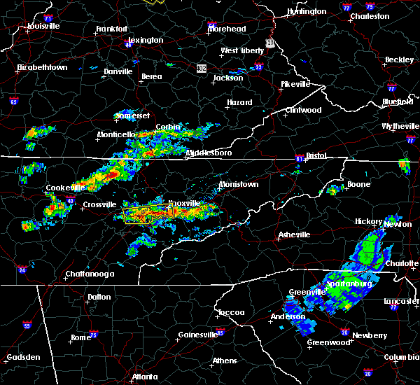 Radar Image for Severe Thunderstorms near Knoxville, TN at 6/30/2015 3:25 PM EDT
