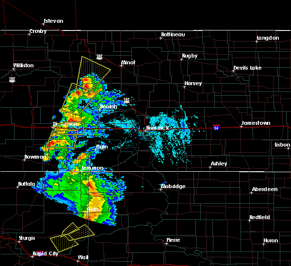 Radar Image for Severe Thunderstorms near Golden Valley, ND at 7/2/2020 5:09 PM MDT