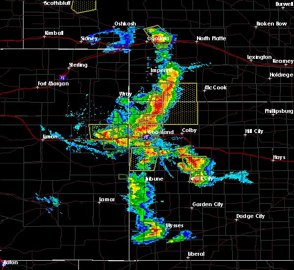 Radar Image for Severe Thunderstorms near Oakley, KS at 7/2/2020 6:11 PM CDT