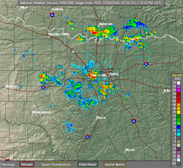 Radar Image for Severe Thunderstorms near Palmer, TX at 7/2/2020 6:14 PM CDT