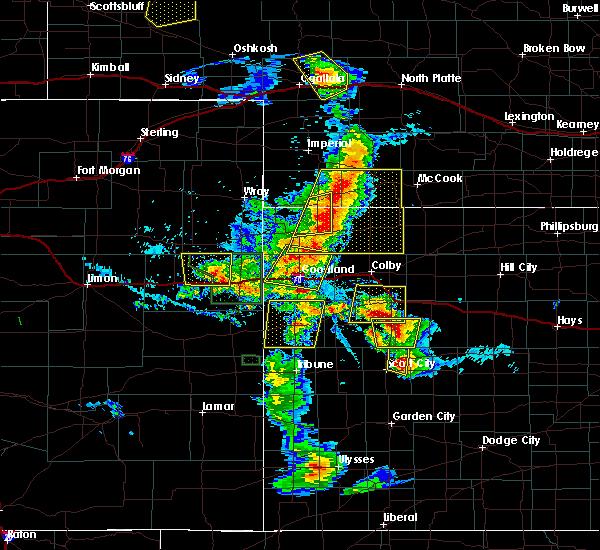 Radar Image for Severe Thunderstorms near Oakley, KS at 7/2/2020 6:20 PM CDT