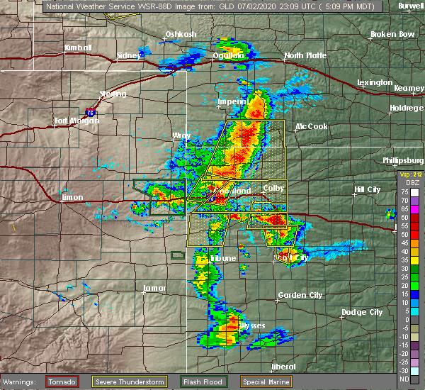 Radar Image for Severe Thunderstorms near Goodland, KS at 7/2/2020 5:24 PM MDT