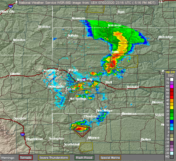 Radar Image for Severe Thunderstorms near Eagle Butte, SD at 7/2/2020 5:23 PM MDT