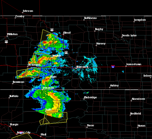 Radar Image for Severe Thunderstorms near New England, ND at 7/2/2020 5:26 PM MDT