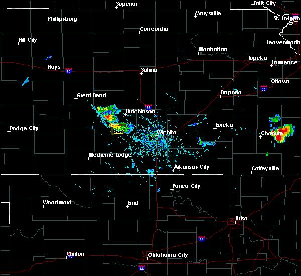 Radar Image for Severe Thunderstorms near Pretty Prairie, KS at 7/2/2020 6:27 PM CDT