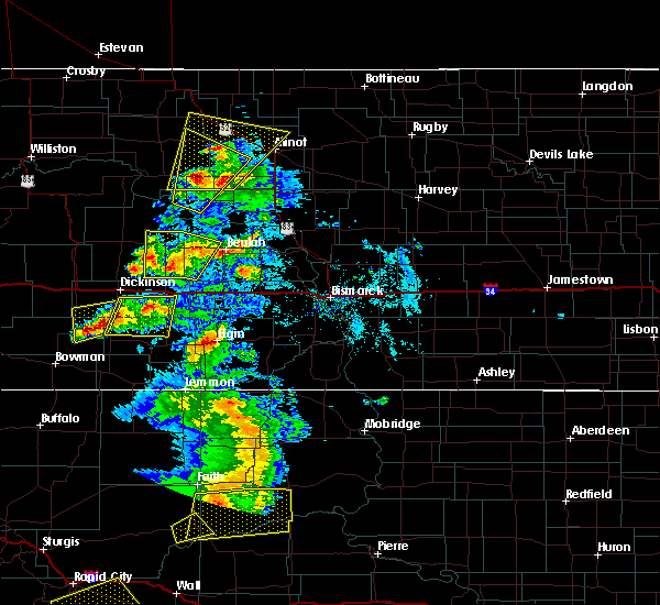 Radar Image for Severe Thunderstorms near New England, ND at 7/2/2020 5:34 PM MDT