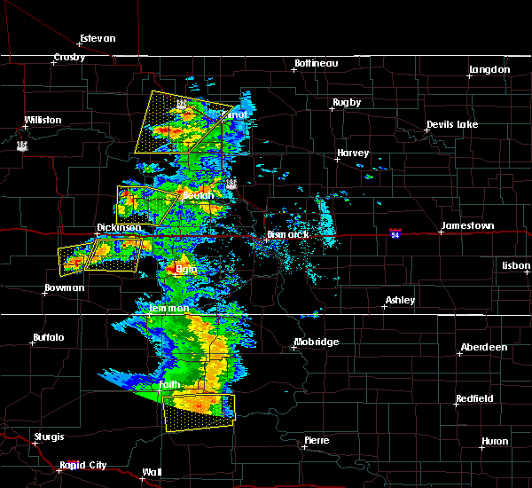 Radar Image for Severe Thunderstorms near New England, ND at 7/2/2020 5:48 PM MDT