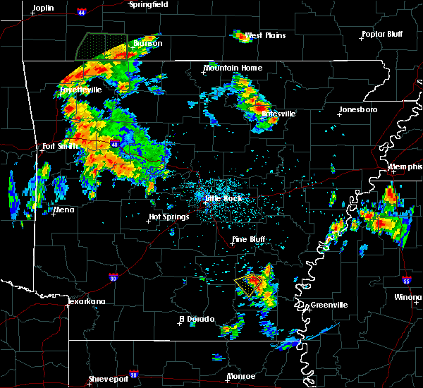 Radar Image for Severe Thunderstorms near Monticello, AR at 7/2/2020 6:49 PM CDT