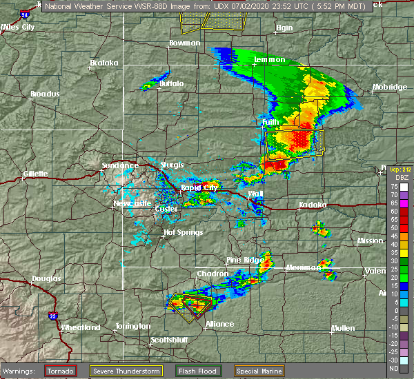Radar Image for Severe Thunderstorms near Eagle Butte, SD at 7/2/2020 5:57 PM MDT