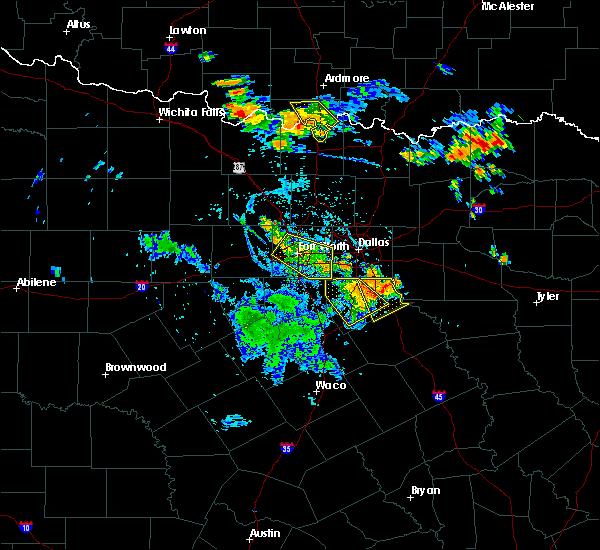 Radar Image for Severe Thunderstorms near Lancaster, TX at 7/2/2020 6:57 PM CDT