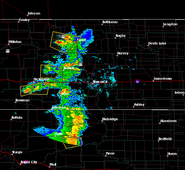 Radar Image for Severe Thunderstorms near New England, ND at 7/2/2020 5:59 PM MDT