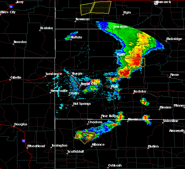 Radar Image for Severe Thunderstorms near Green Grass, SD at 7/2/2020 6:02 PM MDT