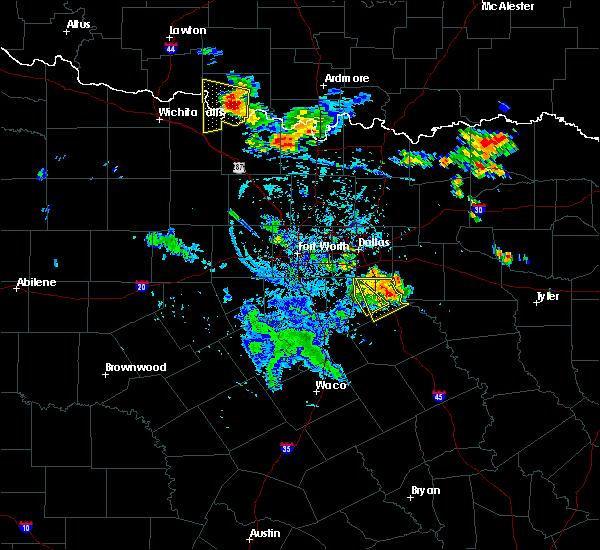 Radar Image for Severe Thunderstorms near Lancaster, TX at 7/2/2020 7:14 PM CDT