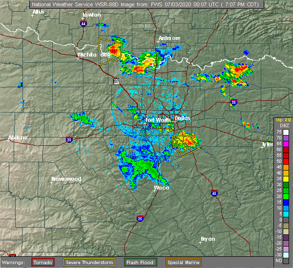 Radar Image for Severe Thunderstorms near Palmer, TX at 7/2/2020 7:13 PM CDT