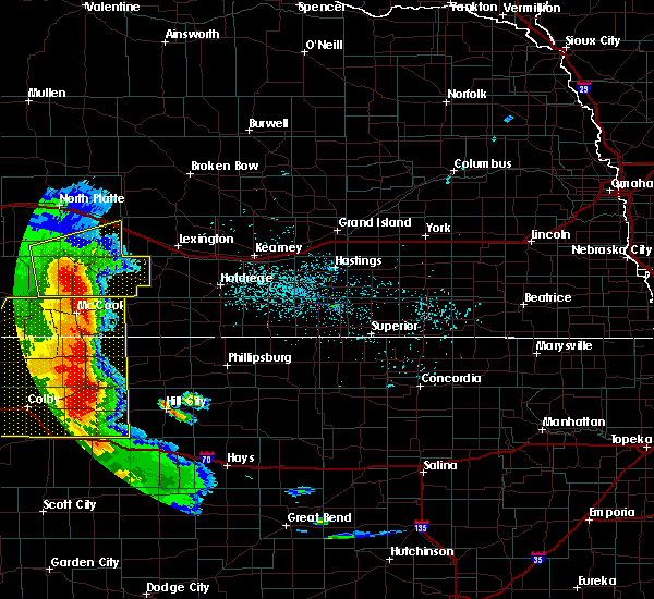Radar Image for Severe Thunderstorms near Maywood, NE at 7/2/2020 7:24 PM CDT