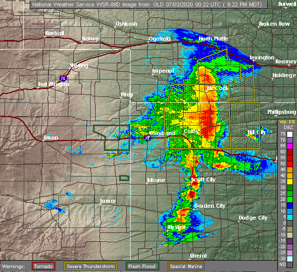 Radar Image for Severe Thunderstorms near Clayton, KS at 7/2/2020 7:29 PM CDT