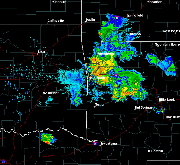 Radar Image for Severe Thunderstorms near Cedarville, AR at 7/2/2020 7:46 PM CDT