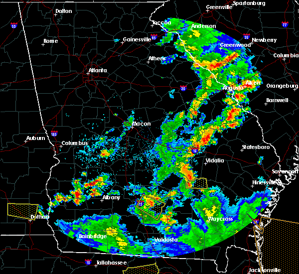 Radar Image for Severe Thunderstorms near Shellman, GA at 6/30/2015 3:35 PM EDT