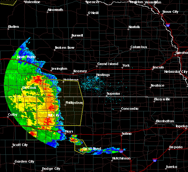 Radar Image for Severe Thunderstorms near Damar, KS at 7/2/2020 8:26 PM CDT