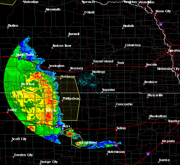 Radar Image for Severe Thunderstorms near Norton, KS at 7/2/2020 8:30 PM CDT