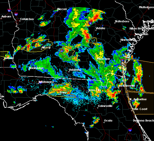 Radar Image for Severe Thunderstorms near Perry, FL at 6/30/2015 3:40 PM EDT
