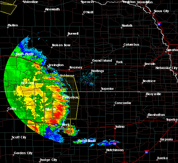 Radar Image for Severe Thunderstorms near Alton, KS at 7/2/2020 8:57 PM CDT