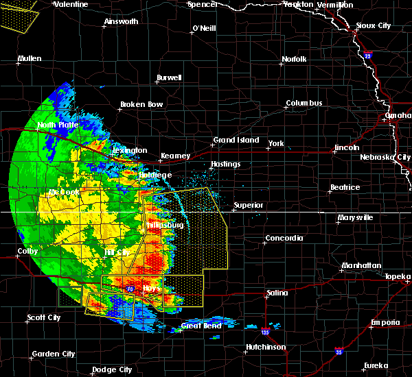 Radar Image for Severe Thunderstorms near Alton, KS at 7/2/2020 9:15 PM CDT