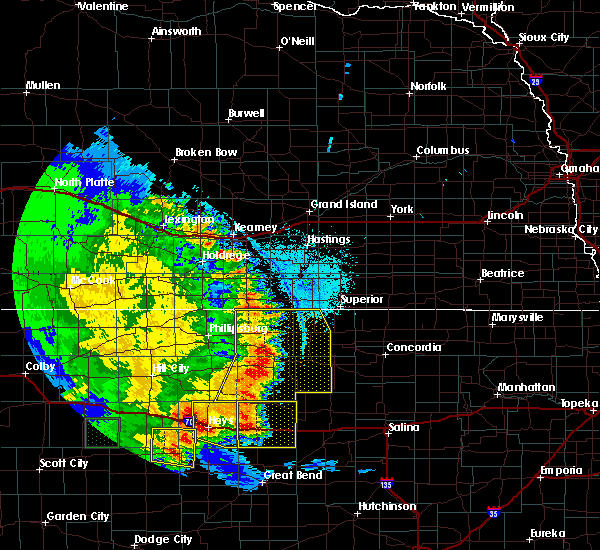 Radar Image for Severe Thunderstorms near Glen Elder, KS at 7/2/2020 9:40 PM CDT