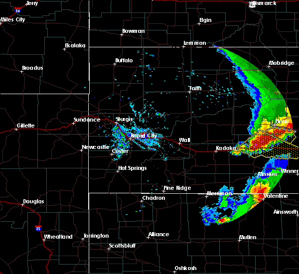 Radar Image for Severe Thunderstorms near Kennebec, SD at 7/2/2020 10:02 PM CDT