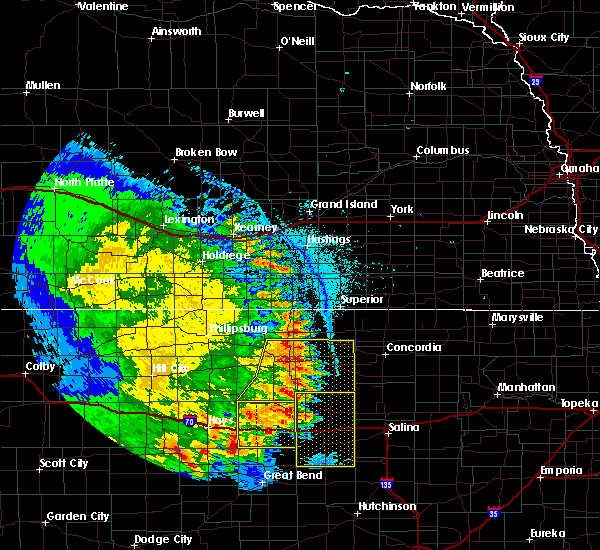 Radar Image for Severe Thunderstorms near Glen Elder, KS at 7/2/2020 10:19 PM CDT