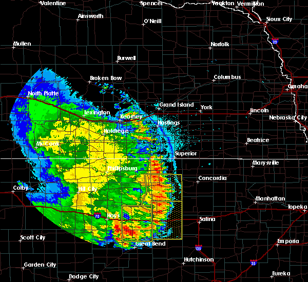 Radar Image for Severe Thunderstorms near Glen Elder, KS at 7/2/2020 10:28 PM CDT
