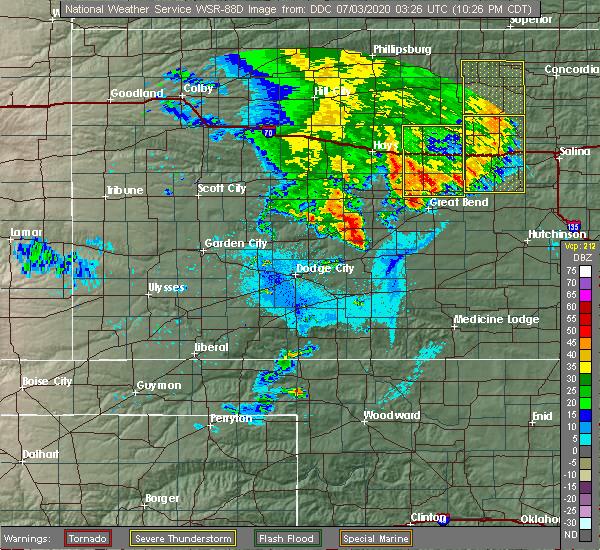 Radar Image for Severe Thunderstorms near Luray, KS at 7/2/2020 10:35 PM CDT
