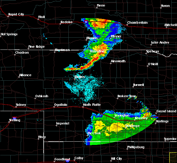 Radar Image for Severe Thunderstorms near Brownlee, NE at 7/2/2020 10:53 PM CDT
